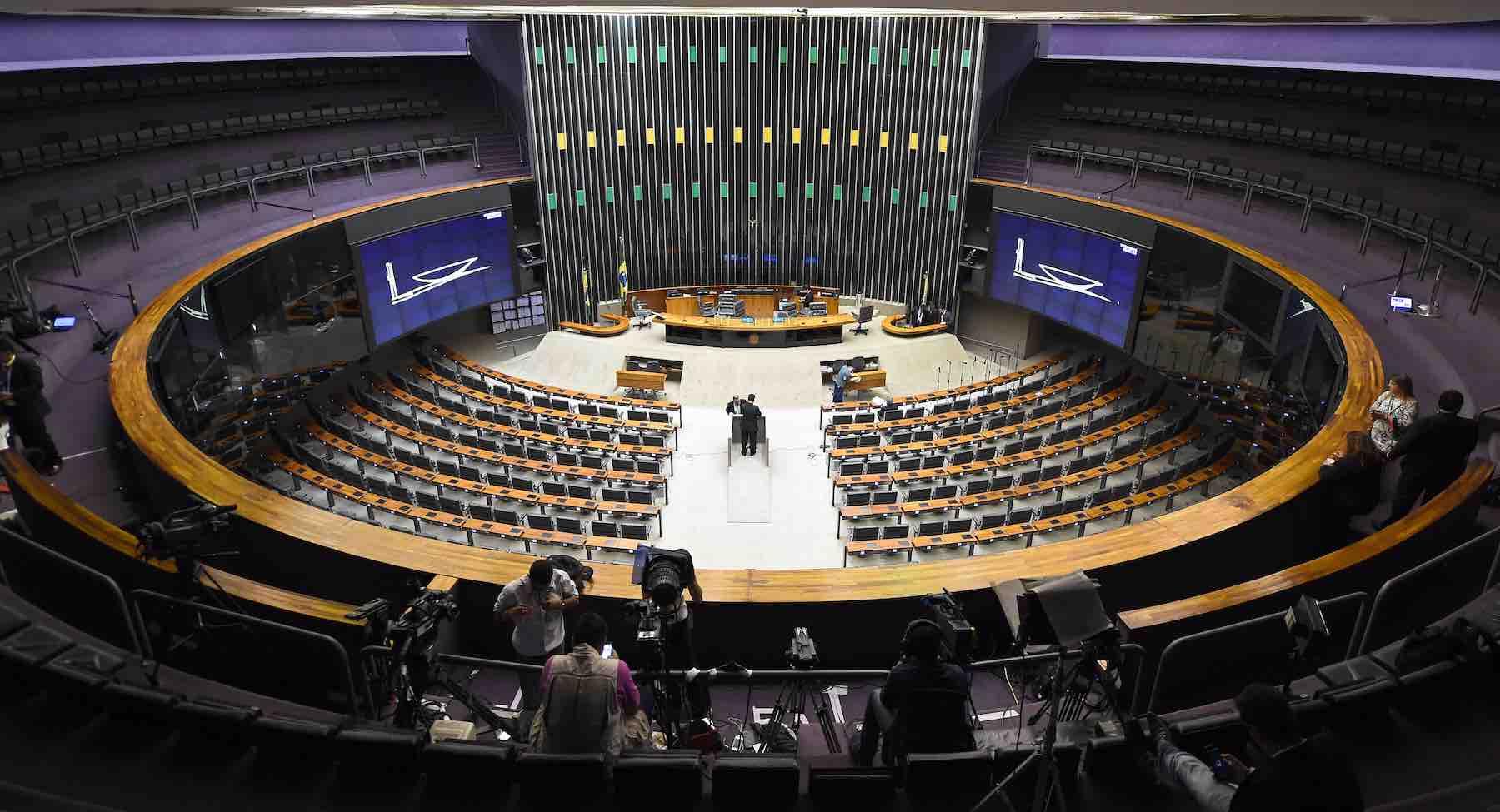 Foto interna da Camara dos Deputados em Brasília.
