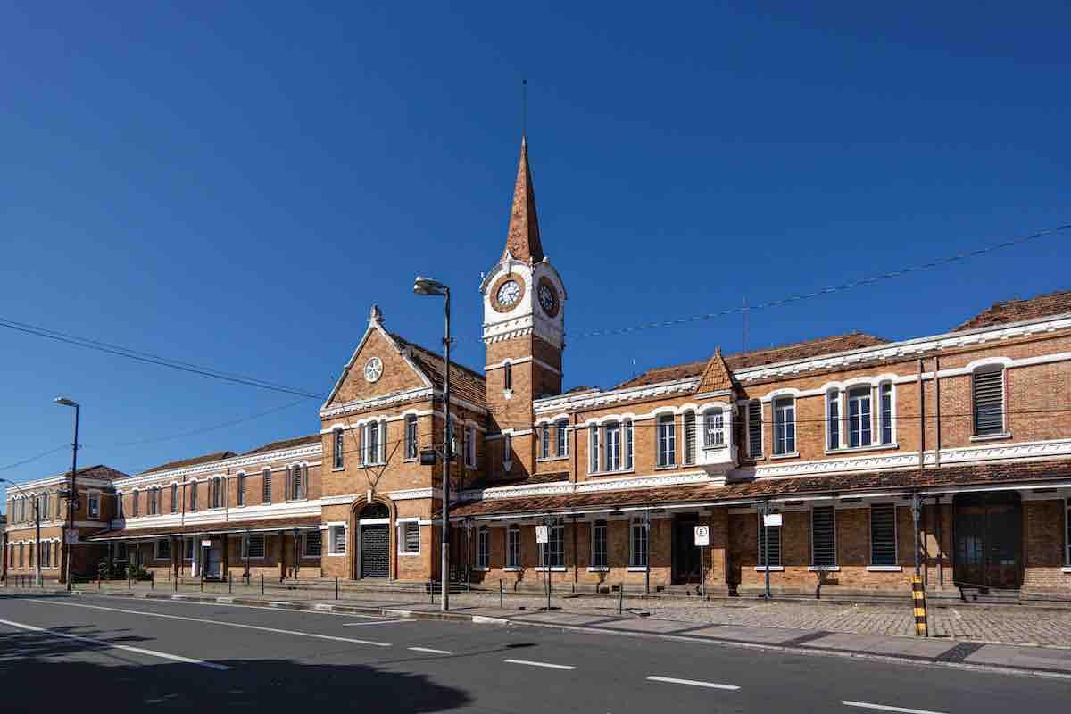 Estação de trem antiga em Campinas.