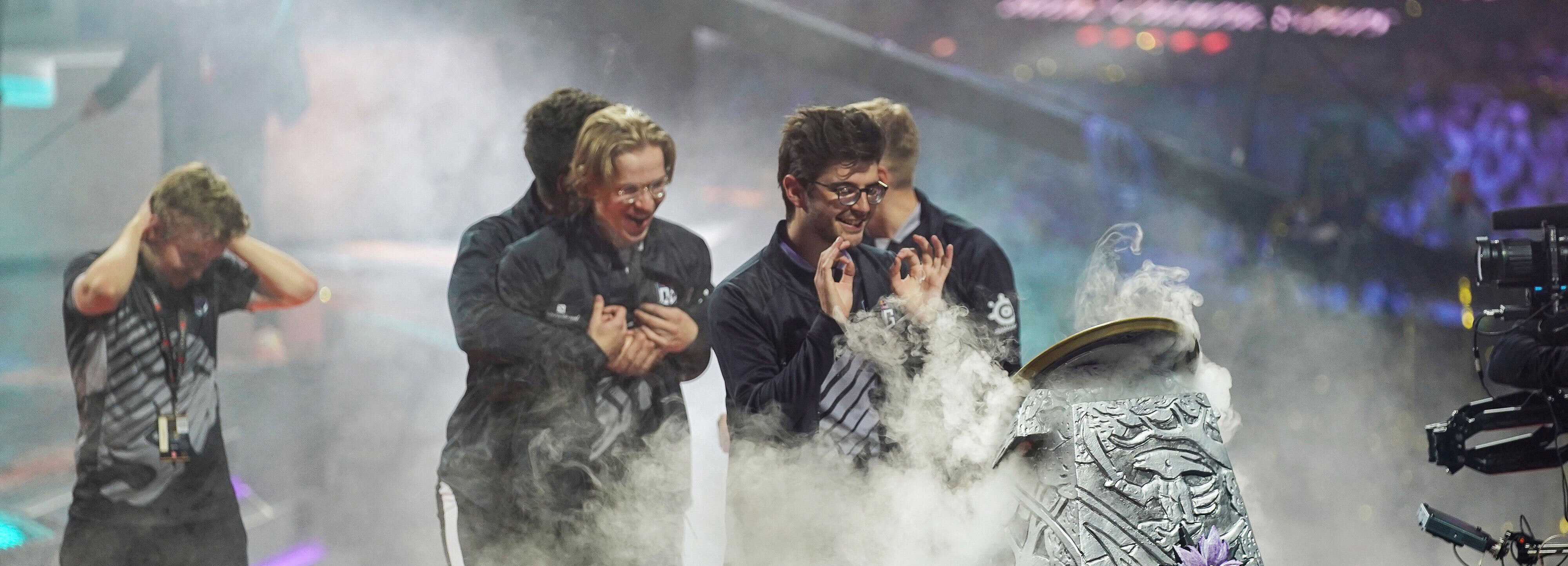 OG winning the Aegis at TI9