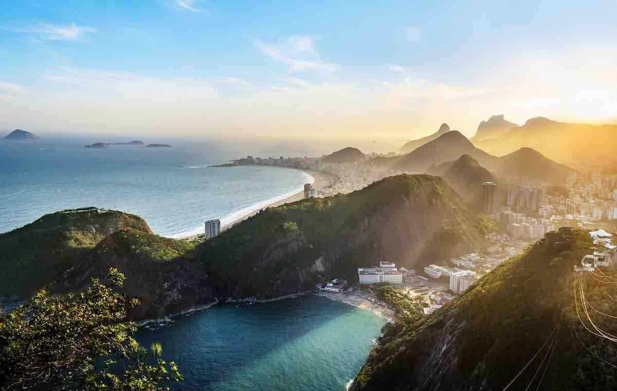 Foto aérea do Rio de Janeiro, capital.