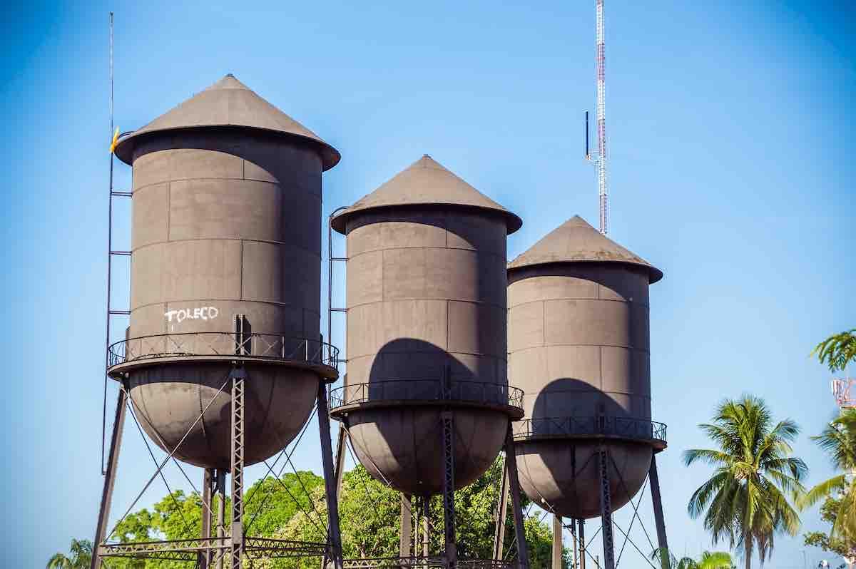 Foto dos reservatórios em água em Porto Velho.